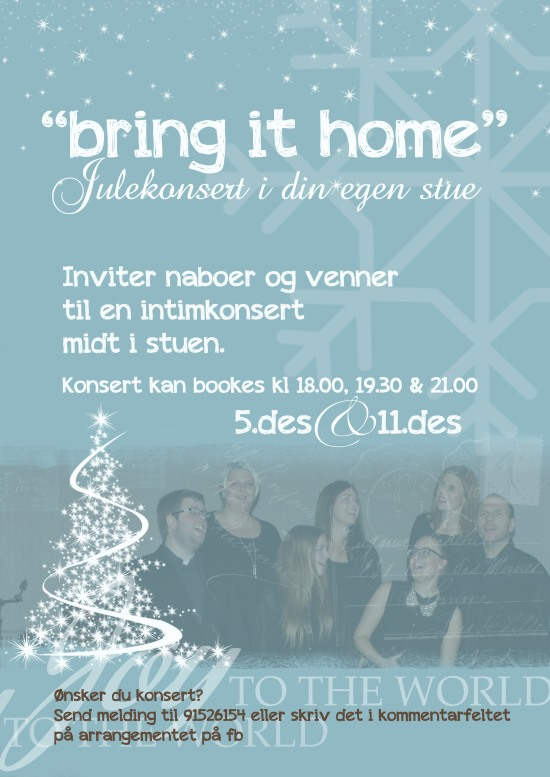 bring it home konsert plakat