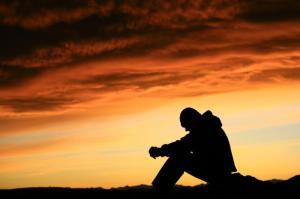 alene med gud