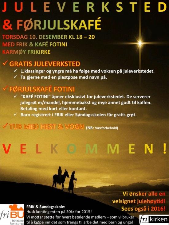 Invitasjon juleverksted 2015