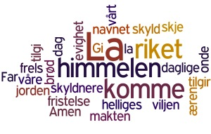 Herrens bønn - wordle