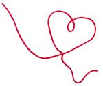Rød tråd hjerte