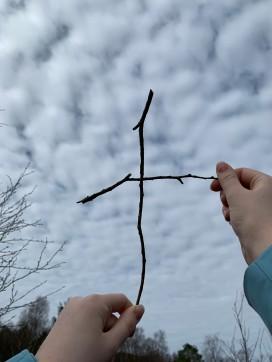 Kors av kvist. Foto: Eline H.